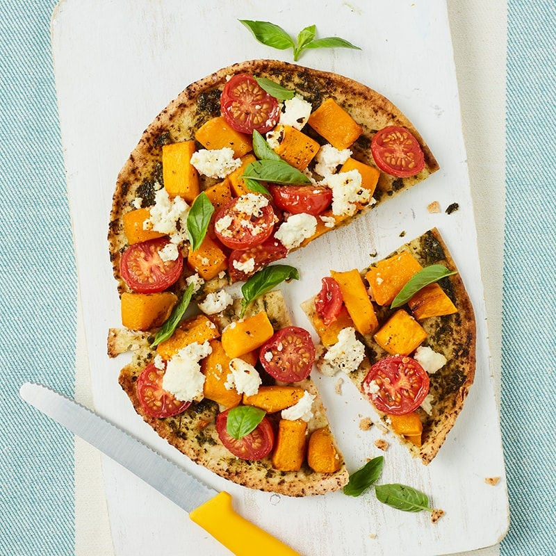 Photo of Roasted pumpkin, pesto and ricotta pizza by WW