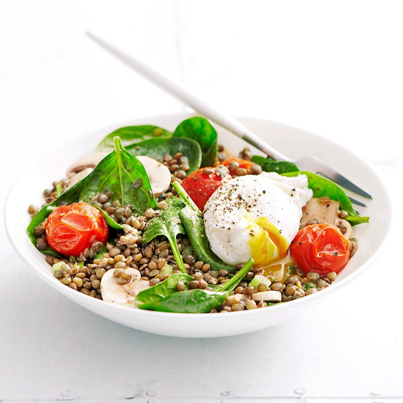 Photo of Lentil salad with poached eggs by WW