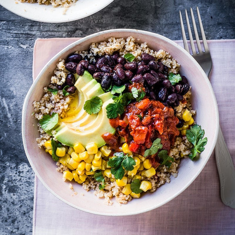 Photo of Cauliflower 'rice' burrito bowls by WW