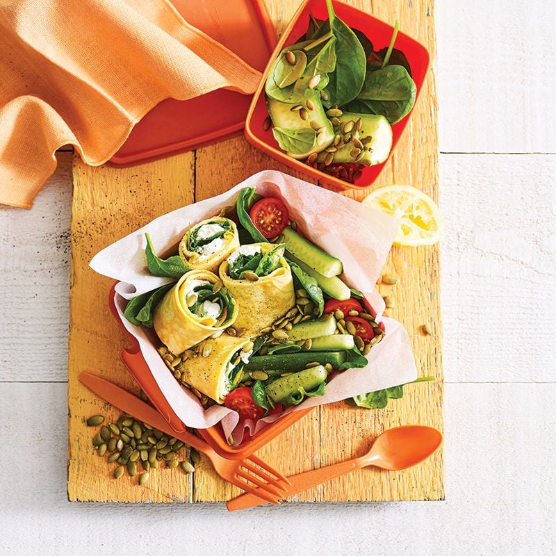 Photo of Rolled spinach and cheese omelette salad box by WW