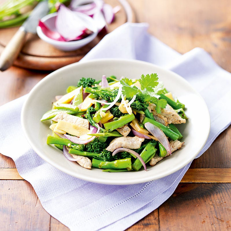 Photo of Pork, broccolini and plum stir-fry by WW