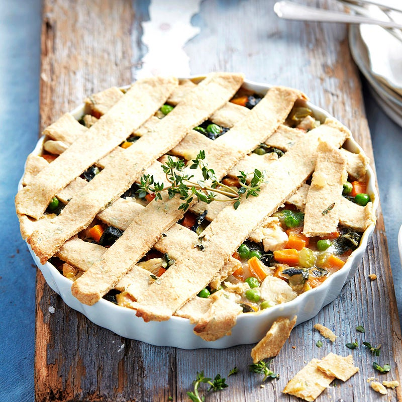 Photo of Creamy silverbeet and chicken lattice pie by WW