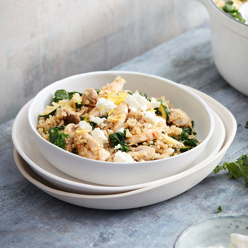 Photo of Baked quinoa pilaf with chicken, mushroom and feta by WW