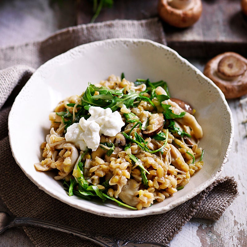 Photo of Barley risotto with mixed mushrooms and thyme by WW