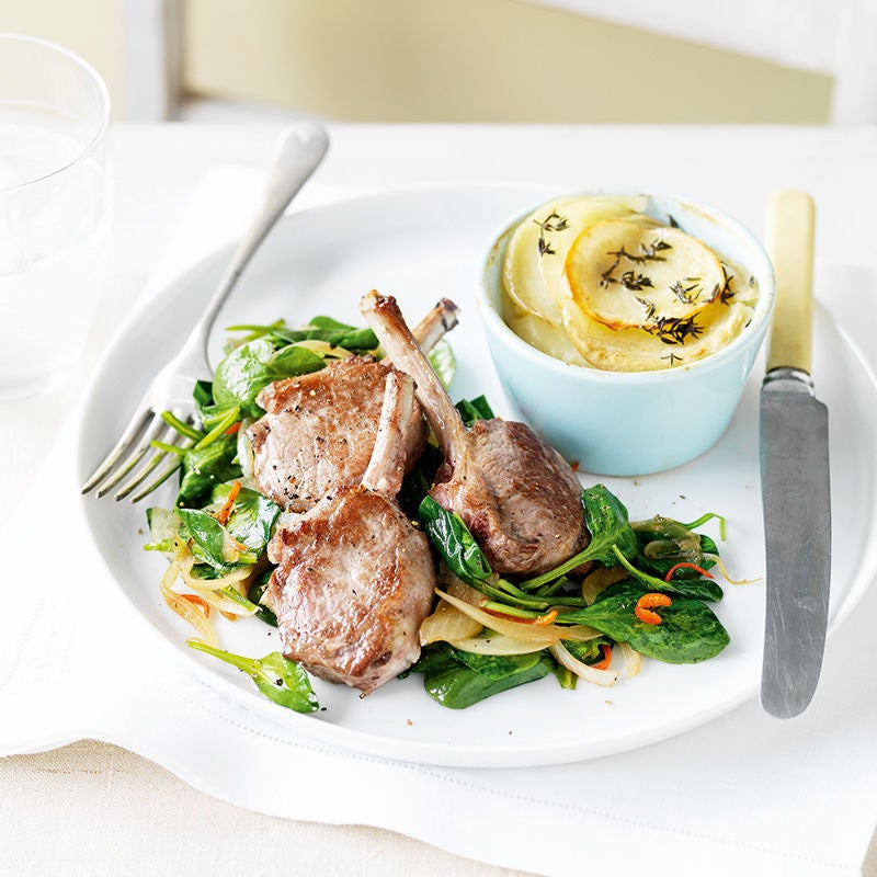 Photo of Lamb cutlets with potato gratin and spinach by WW