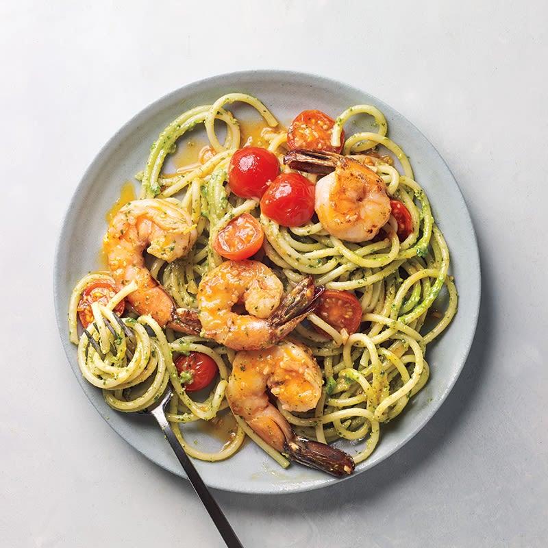 Photo of Pesto prawn pasta by WW