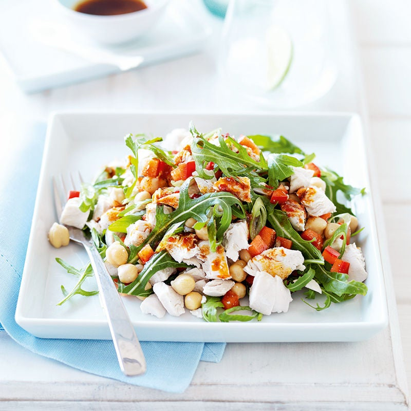 Photo of Chilli chicken, chickpea and rocket salad by WW