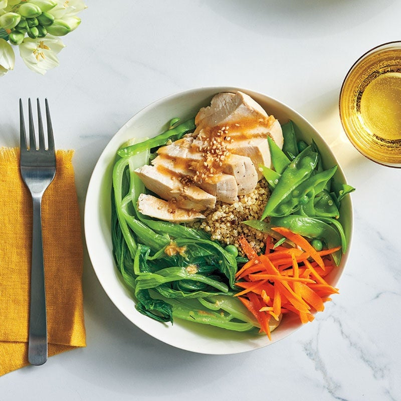 Photo of Chicken and bok choy bowls with sesame-ginger dressing by WW