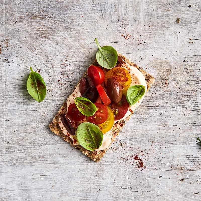 Photo of Crispbread topped with capsicum dip by WW