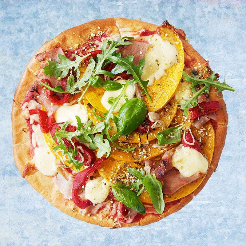 Photo of Roast pumpkin pizza with prosciutto and dukkah sprinkle by WW
