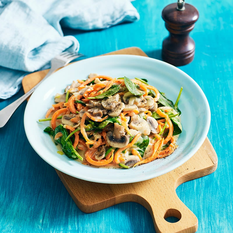 Photo of Zoodles with creamy mushrooms and spinach by WW