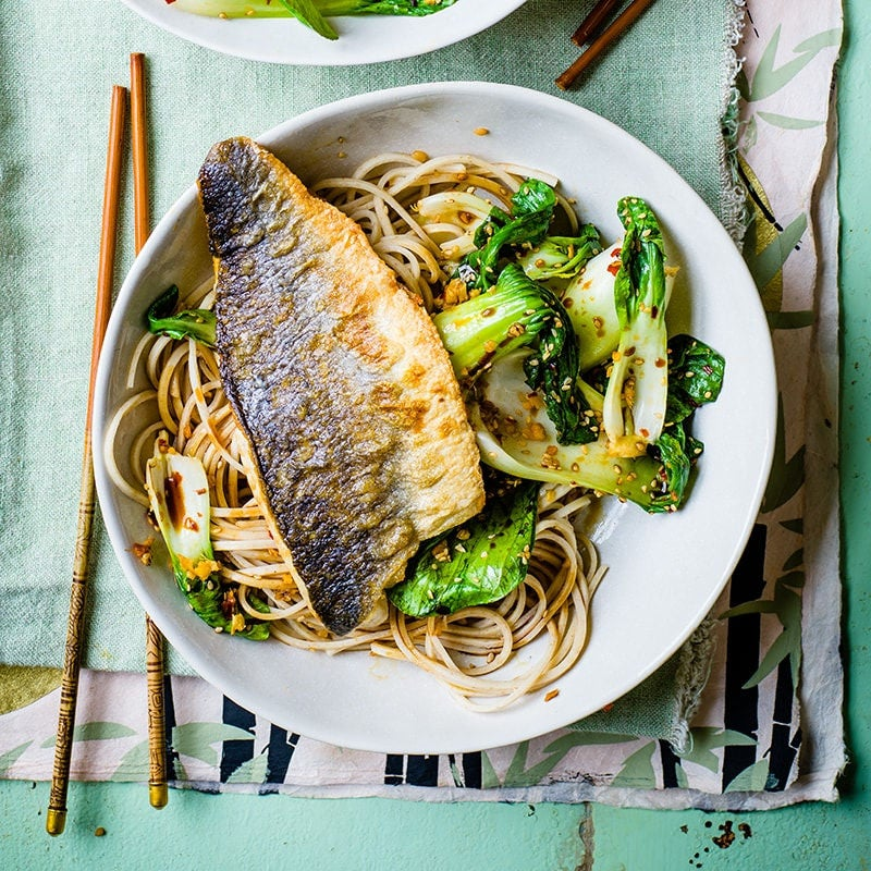 Photo of Crispy barramundi with sesame noodles by WW
