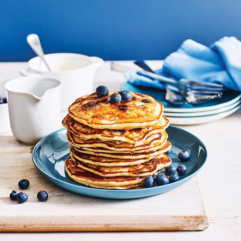 Photo of White bean and blueberry pancakes by WW