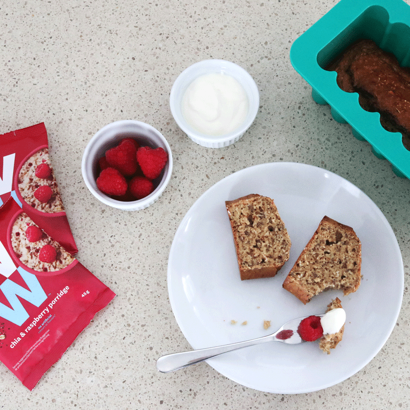 Photo of Chia and raspberry breakfast loaf by WW
