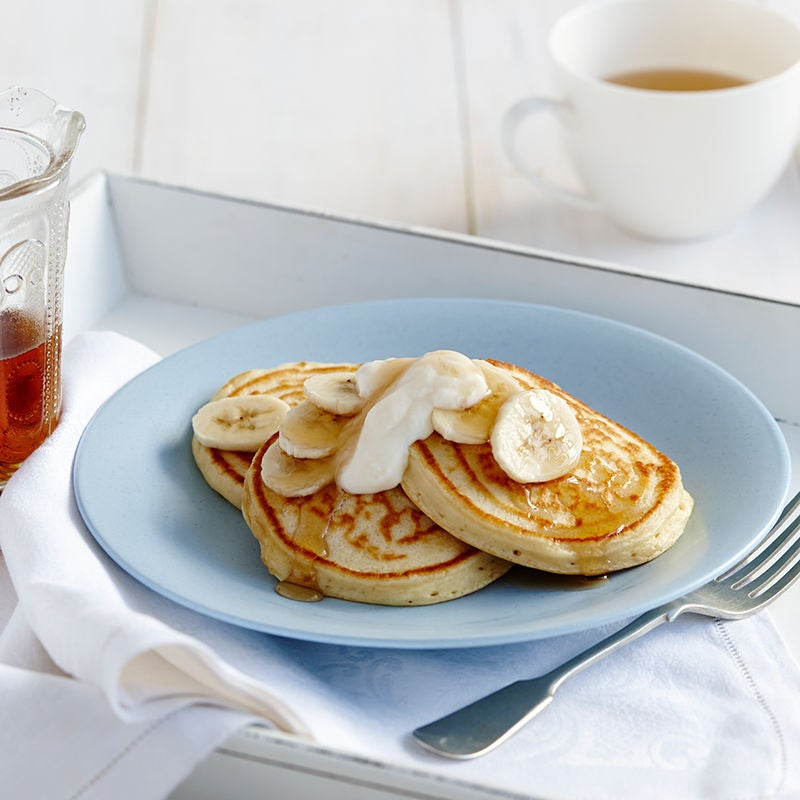 Photo of Vanilla pancakes with banana and yoghurt by WW