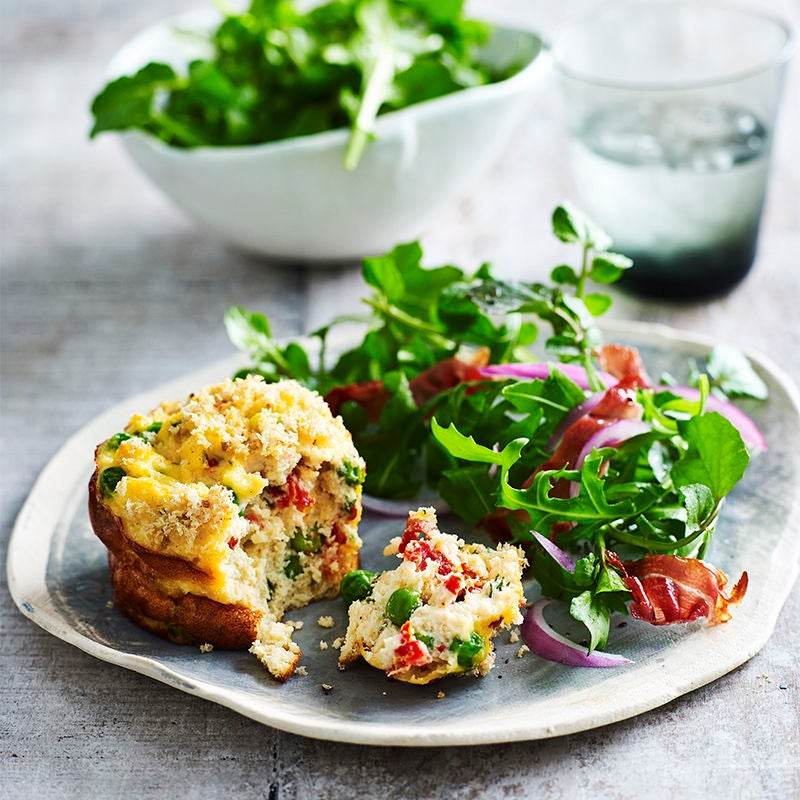 Photo of Upside-down ricotta quiches with cress salad by WW