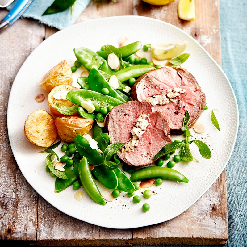 Photo of Mini lamb roast with peas, mint and almonds by WW