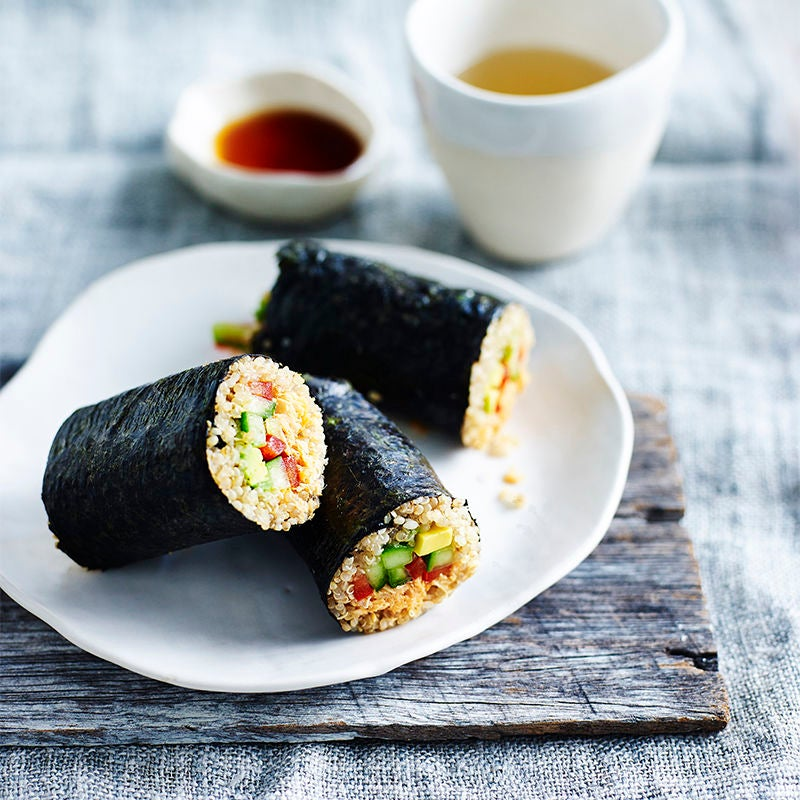 Photo of Quinoa nori rolls with spicy salmon and avocado by WW