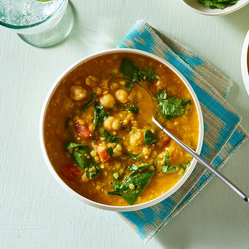 Photo of Curried red lentil chickpea stew by WW