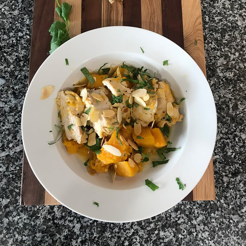 Photo of Julie's slow cooker Moroccan apricot chicken by WW