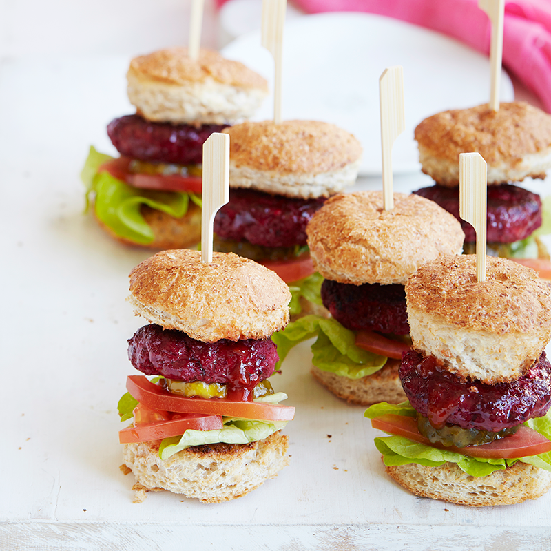 Photo of Beef, beetroot and feta sliders by WW