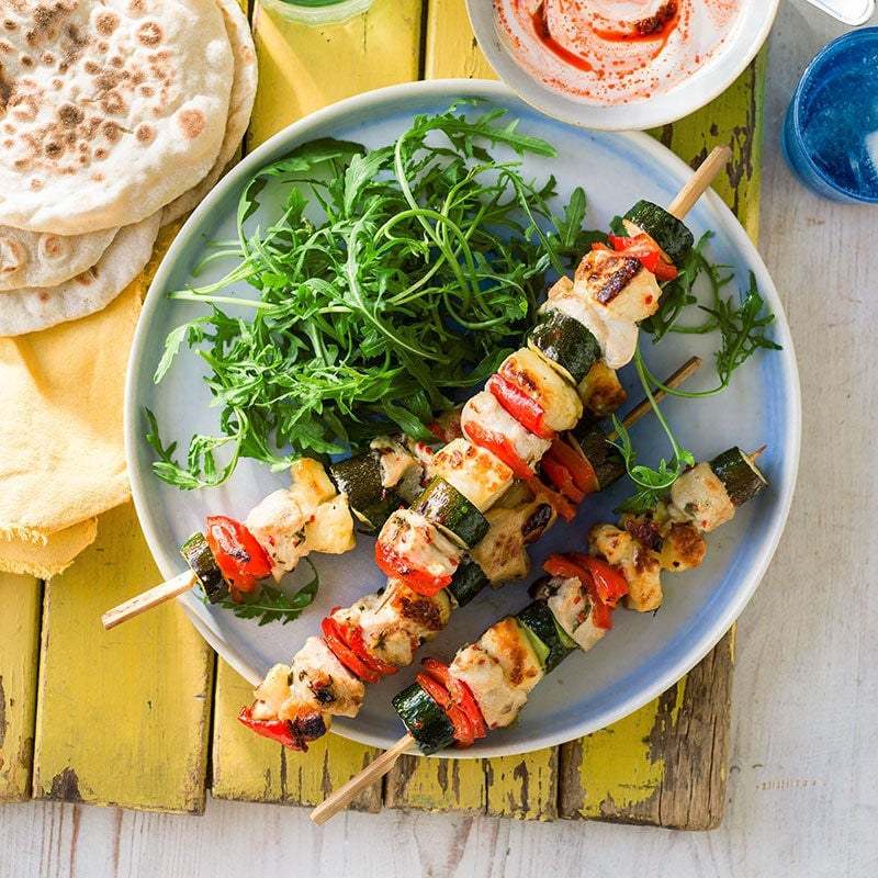 Photo of Chicken and haloumi skewers by WW
