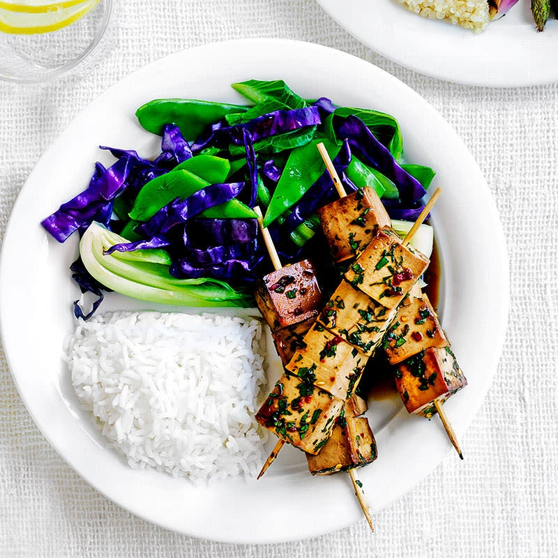 Photo of Teriyaki tofu skewers with cabbage by WW
