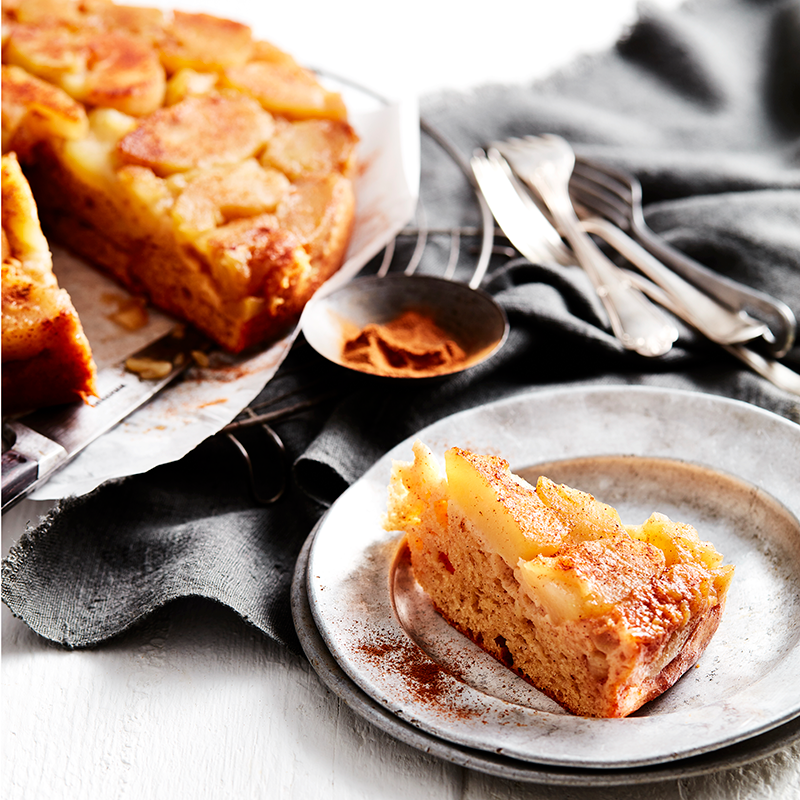 Photo of Apple and cinnamon upside-down cake by WW
