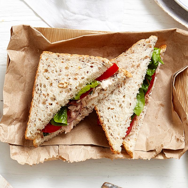 Photo of Tuna, basil and olive sandwich by WW