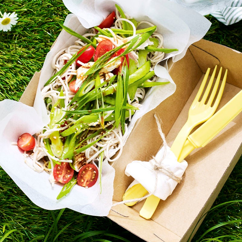 Photo of Poached chicken, sesame and soba noodle salad by WW