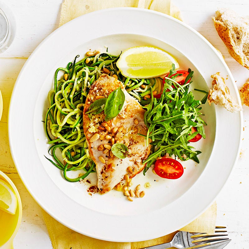 Photo of Chicken and zucchini noodles by WW
