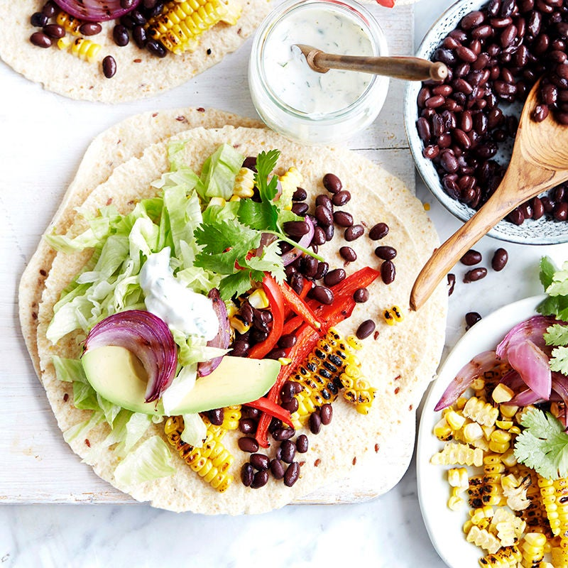 Photo of Chargrilled capsicum and corn burrito by WW