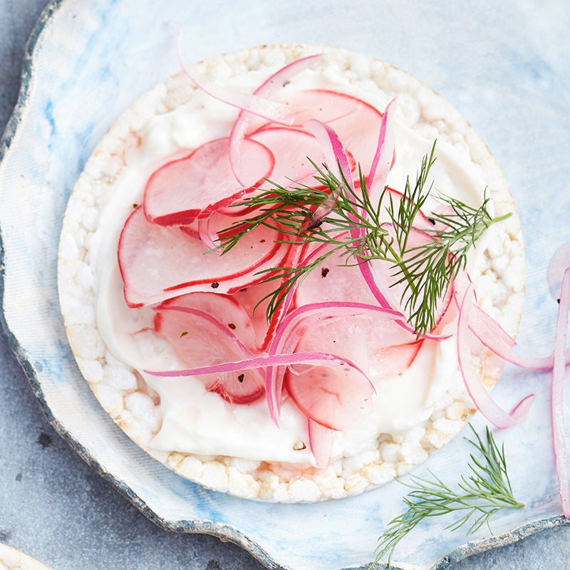 Photo of Radish pickle and cream cheese rice cake by WW