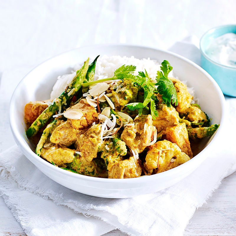 Photo of Chicken and vegetable korma with minted yoghurt by WW