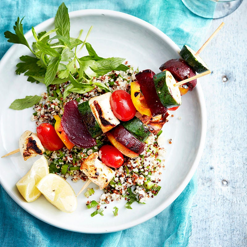 Photo of Haloumi skewers with quinoa by WW