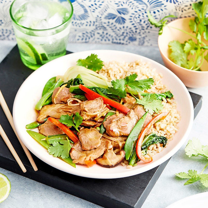 Photo of Honey soy pork and vegetable stir-fry by WW