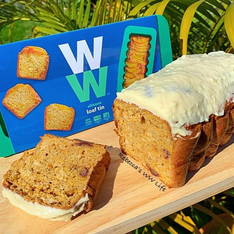 Photo of Rebecca's carrot cake loaf with cream cheese icing by WW