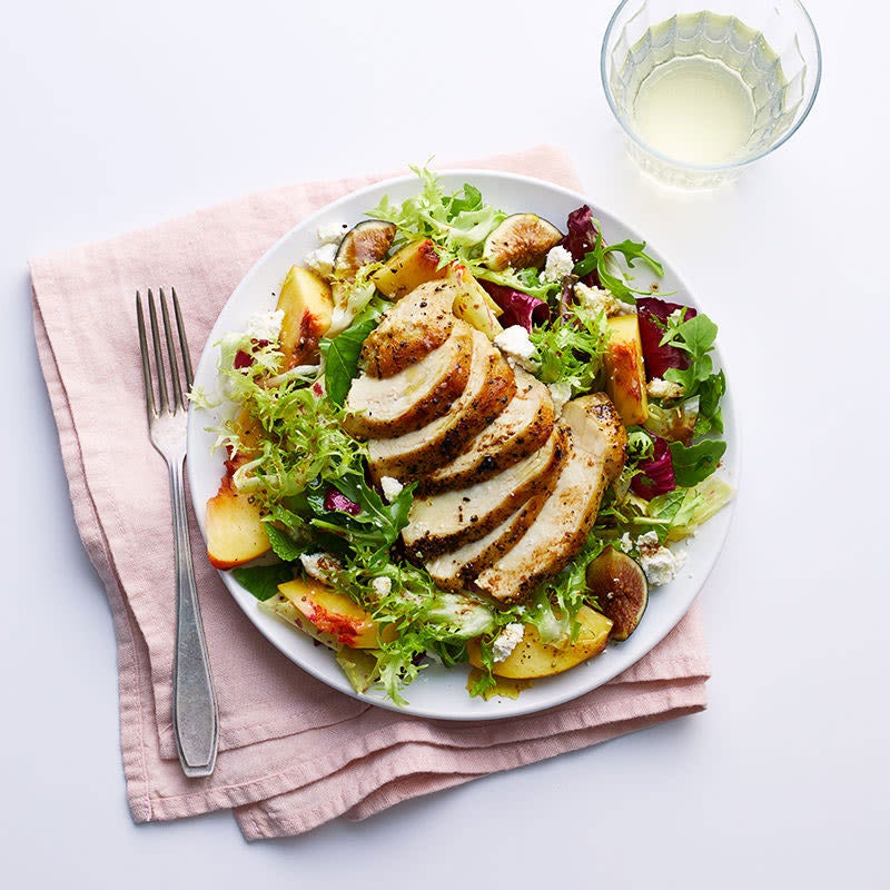 Photo of Chicken, peach and fig salad with ricotta by WW