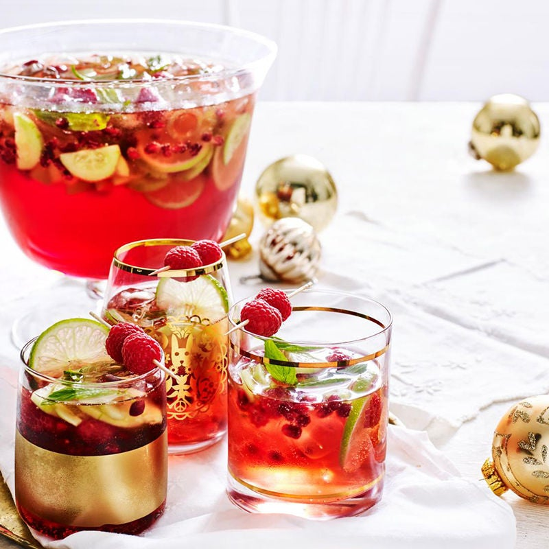 Photo of Pomegranate, cucumber and raspberry punch by WW