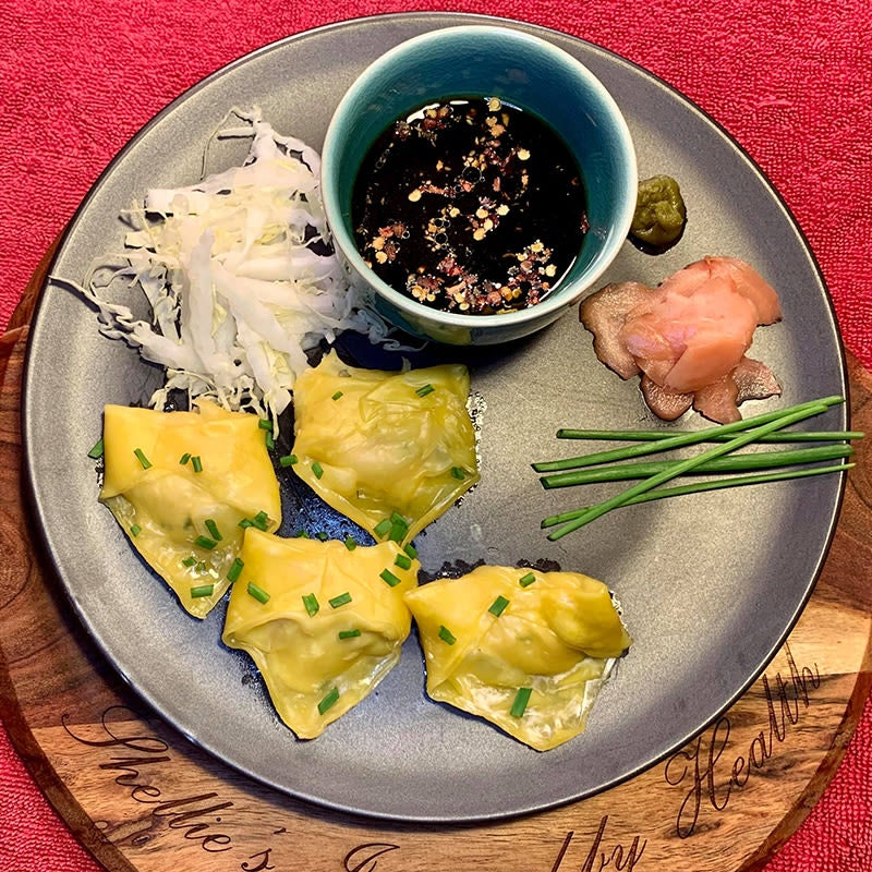 Photo of Shellie's chicken and chive wontons by WW