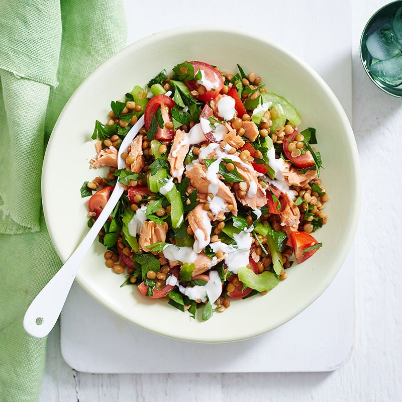 Photo of Lentil and salmon salad by WW