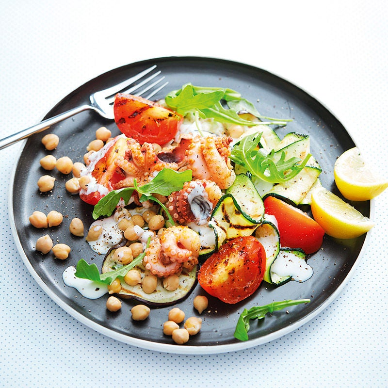 Photo of Barbecued octopus and chickpea salad by WW