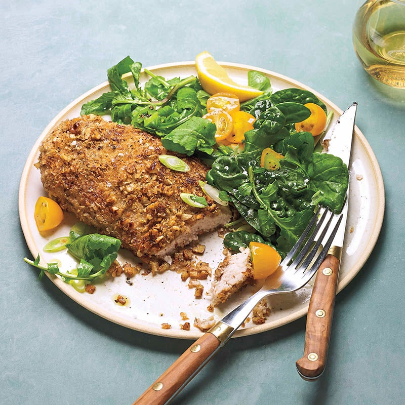 Photo of Pecan-crusted turkey schnitzels by WW
