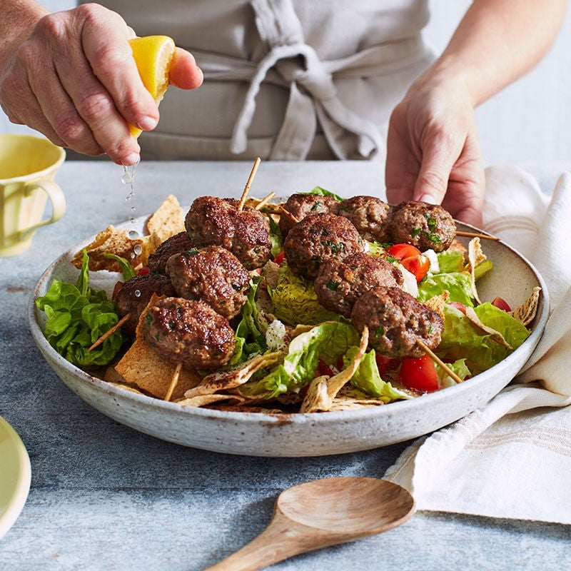 Photo of Lamb koftas with salad by WW