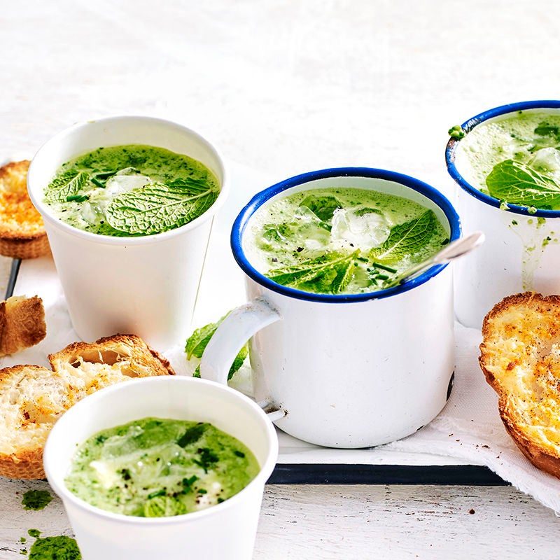 Photo of Chilled watercress soup with parmesan toasties by WW