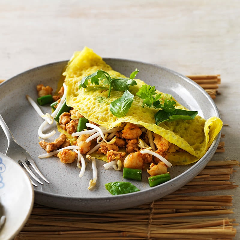Photo of Chicken, prawn and shallot pancakes by WW