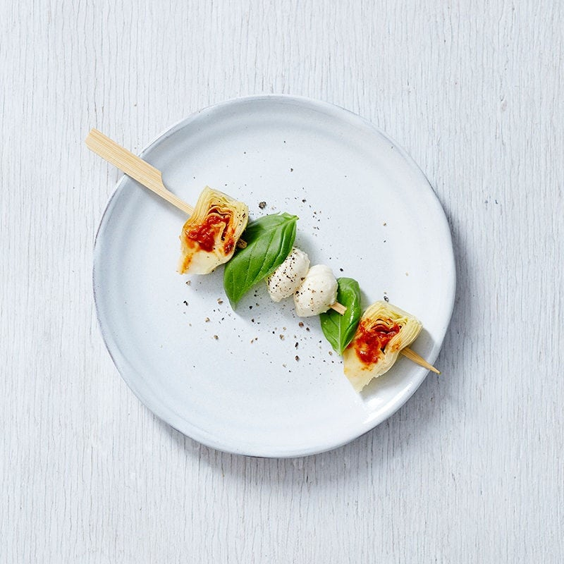 Photo of Artichoke, harissa and bocconcini skewer by WW