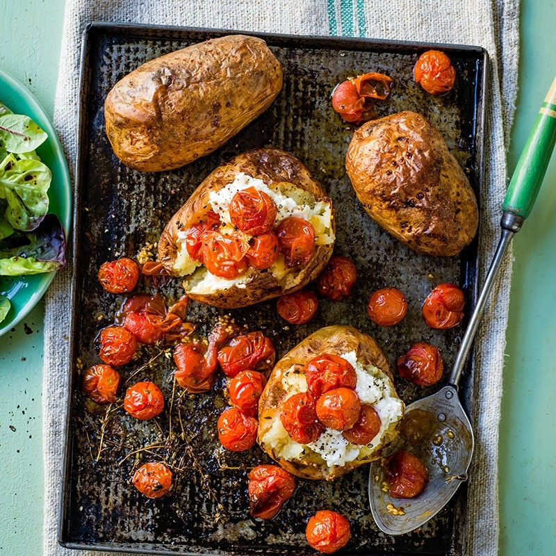 Photo of Baked potatoes with ricotta and roasted tomatoes by WW