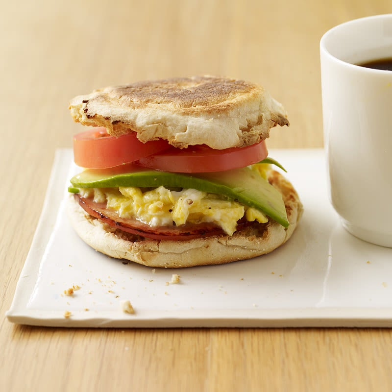 Photo of Egg and bacon sandwich with avocado and tomato by WW