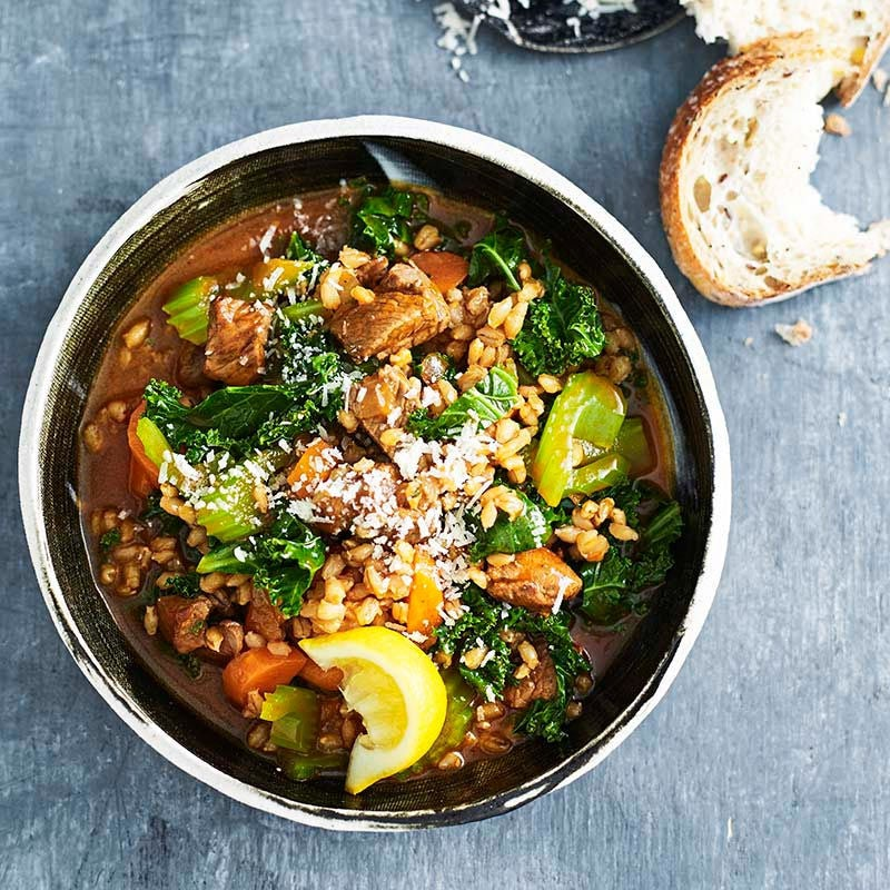 Photo of Lamb barley stew with kale by WW